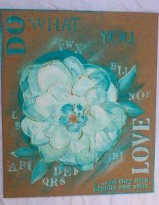 tela do what you love-pittura materica-corso-derpit-parma